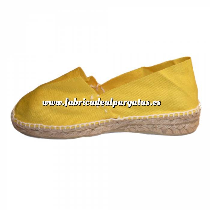 Imagen Amarillo CLAS3 Alpargata Clásica Tacón 3 cms Amarillo Talla 40