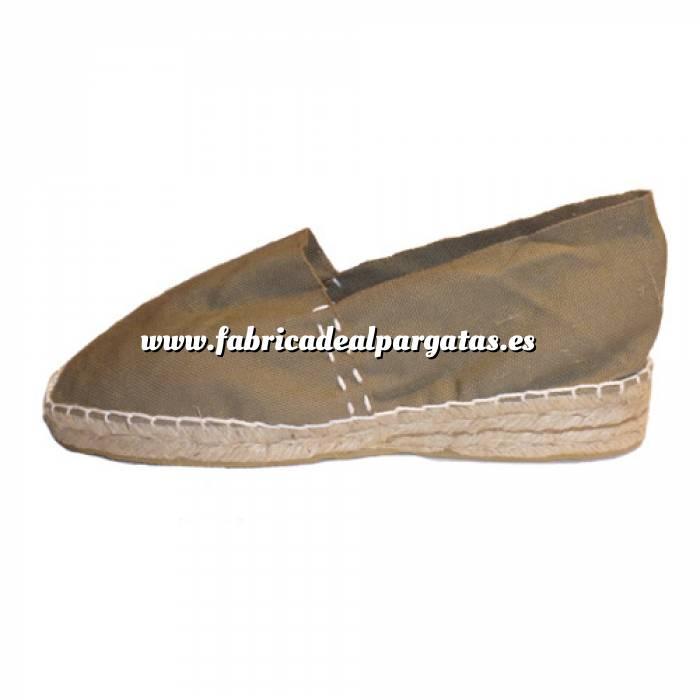 Imagen Kaki CLAS3 Alpargata Clásica Tacón 3 cms Kaki Talla 40