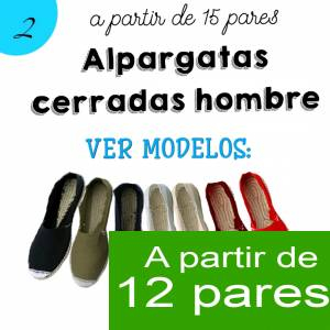 Imagen Hombre Cerradas Alpargatas Cerradas HOMBRE color NEGRO - A partir de 12 pares