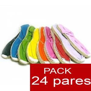 Mujer Colores Lisos - Alpargatas Boda MUJER Surtidas en colores y tallas - Caja 24 pares