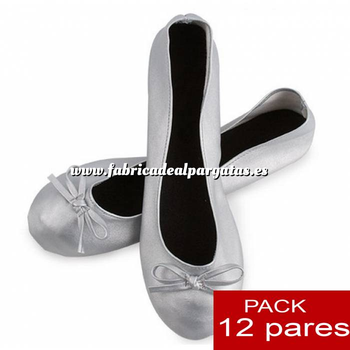 Enrollables De Lote Bailarinas Pares 12 Plegables Plata TH6TZxnzqw