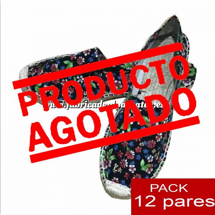 Imagen Mujer Estampadas Alpargatas estampadas FLORES ESPECIALES 1 Caja 12 pares - OFERTA ULTIMAS CAJAS (Últimas Unidades)
