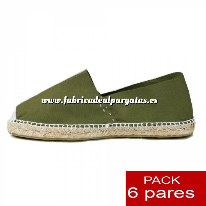 Imagen Talla 41 Alpargatas cerradas Talla 41 KAKI - 6 pares - Entrega 15 días (duplicado) (duplicado)
