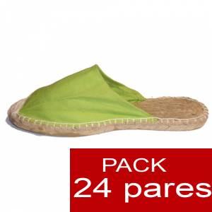 Abiertas mujer - Alpargatas Abiertas color Pistacho caja 24 pares (�ltimas Unidades)