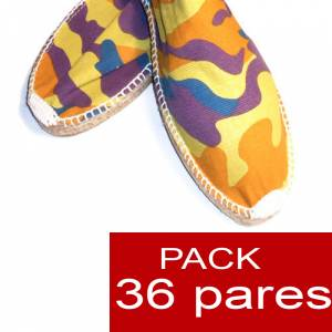 Cerradas hombre - Alpargatas Cerradas HOMBRE camuflaje Amarillo caja 36 pares (�ltimas unidades)