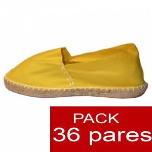 Cerradas mujer - Alpargatas cerradas color Amarillo (TIENDA) caja 36 pares (�ltimas Unidades)