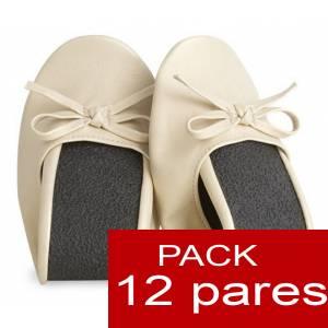 Enrollables - Manoletinas Bailarinas plegables / enrollables BEIGE - Lote de 12 pares (�ltimas Unidades)
