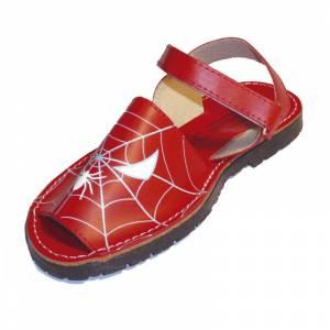 Spiderman - Avarca - Menorquina piel niño Spiderman Talla 31