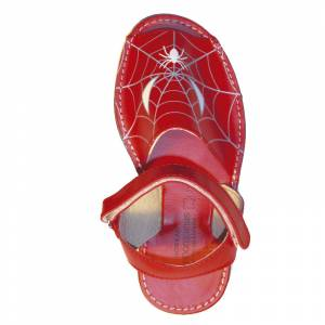 Imagen Spiderman Avarca - Menorquina piel niño Spiderman Talla 32